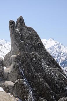 奇石イルカ岩