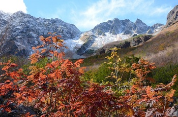 奥穂高岳の紅葉