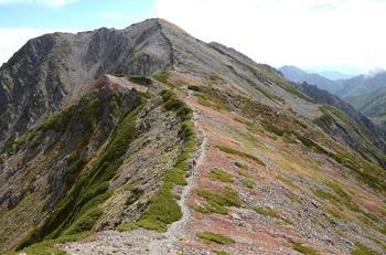 赤石岳への稜線