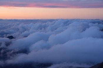 天空の夕雲