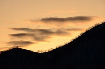 稜線のシルエット