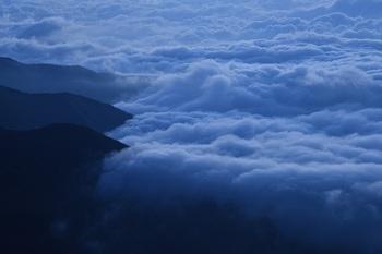 安曇野の雲海